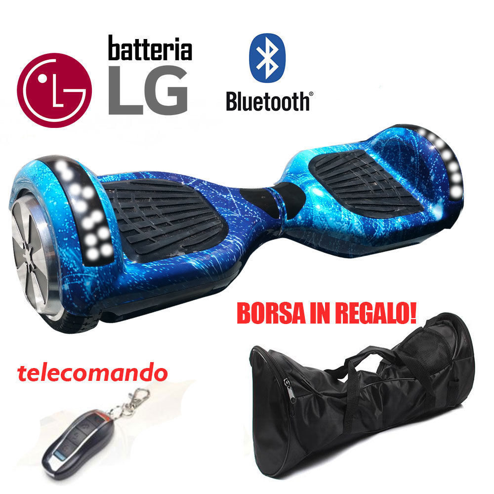 Overboard 6.5 BT Hoverboard Smart Balance Luci Speaker Bluetooth Blu