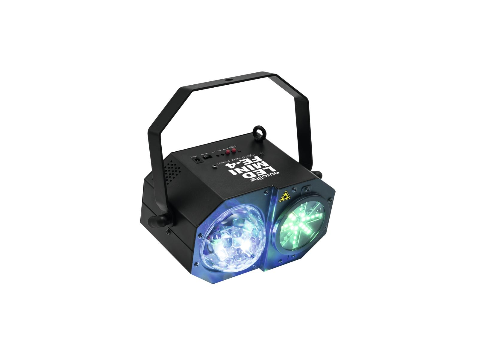 Effetto luce laser Led Mini FE-4 Flower mirror ball strobe eurolite