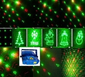 Mini Laser Luci di Natale Proiettore Xmas Stage Party Show Pub Disco DJ Light