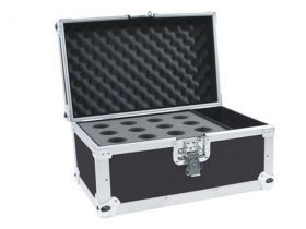 Flight Case Valigia Custodia Per 12 Microfoni 500 x 300 x 280 mm Roadinger