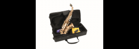 Sax Soprano, curvo, color oro, con custodia e accessori DIMAVERY SP-20