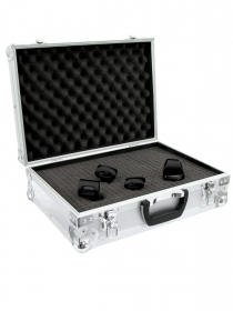Flight Case Case for microphones stortino Roadinger 460 x 350 x 160 mm Silver