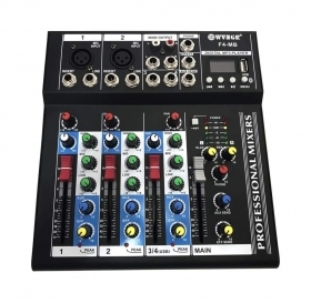 Mixer Console 4 Canali PROFESSIONALE WVNGR F4-MB ingresso USB MP3