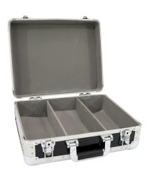 Flight case for turntables and cdj cd music ROADINGER ALU black 90 cd
